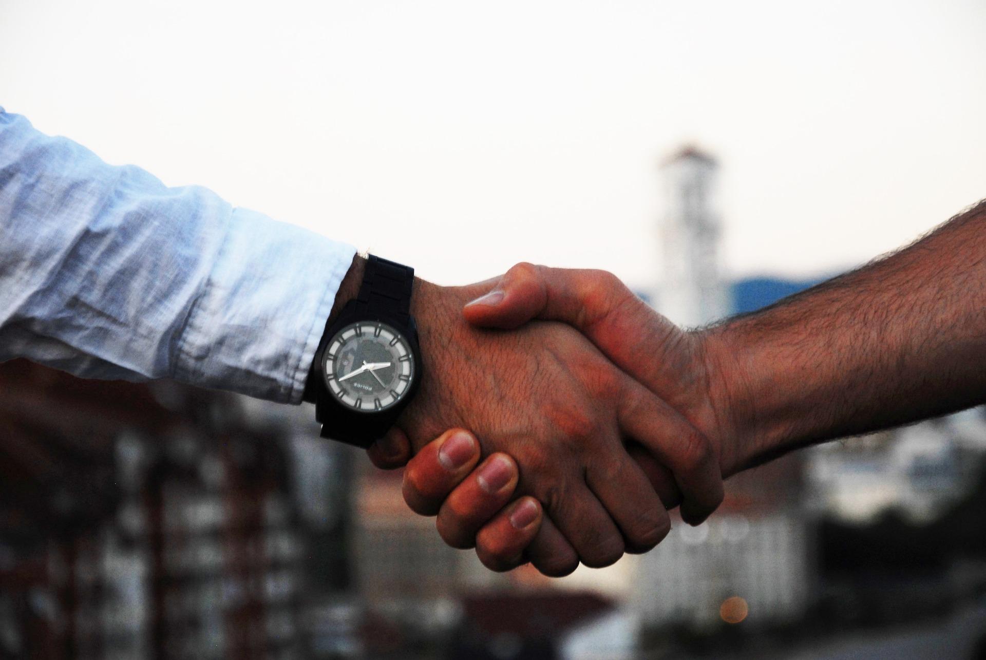 外国人のコミュニケーション 握手